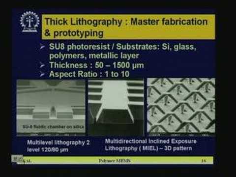 Lecture - 29 Polymer MEMS & Carbon Nano Tubes CNT
