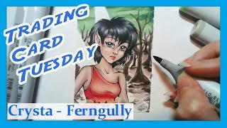 Trading Card Tuesday! - Crysta From Ferngully