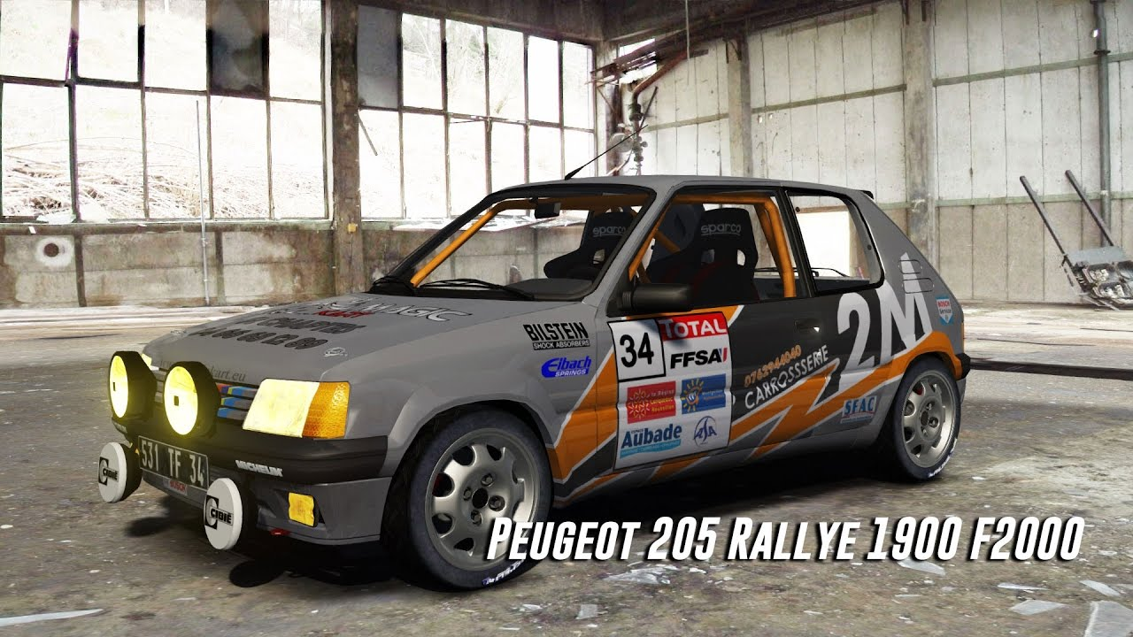 peugeot 205 rallye 1900 f2000 assetto corsa download car youtube. Black Bedroom Furniture Sets. Home Design Ideas