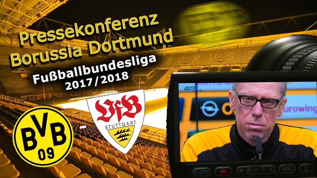Borussia Dortmund - VfB Stuttgart: Pk mit Peter Stöger