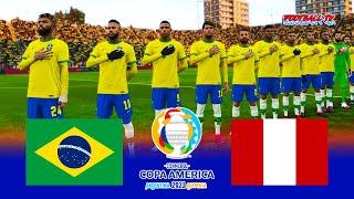 BRAZIL vs PERU   Copa America 2021   PES 2021 Gameplay   Match PC