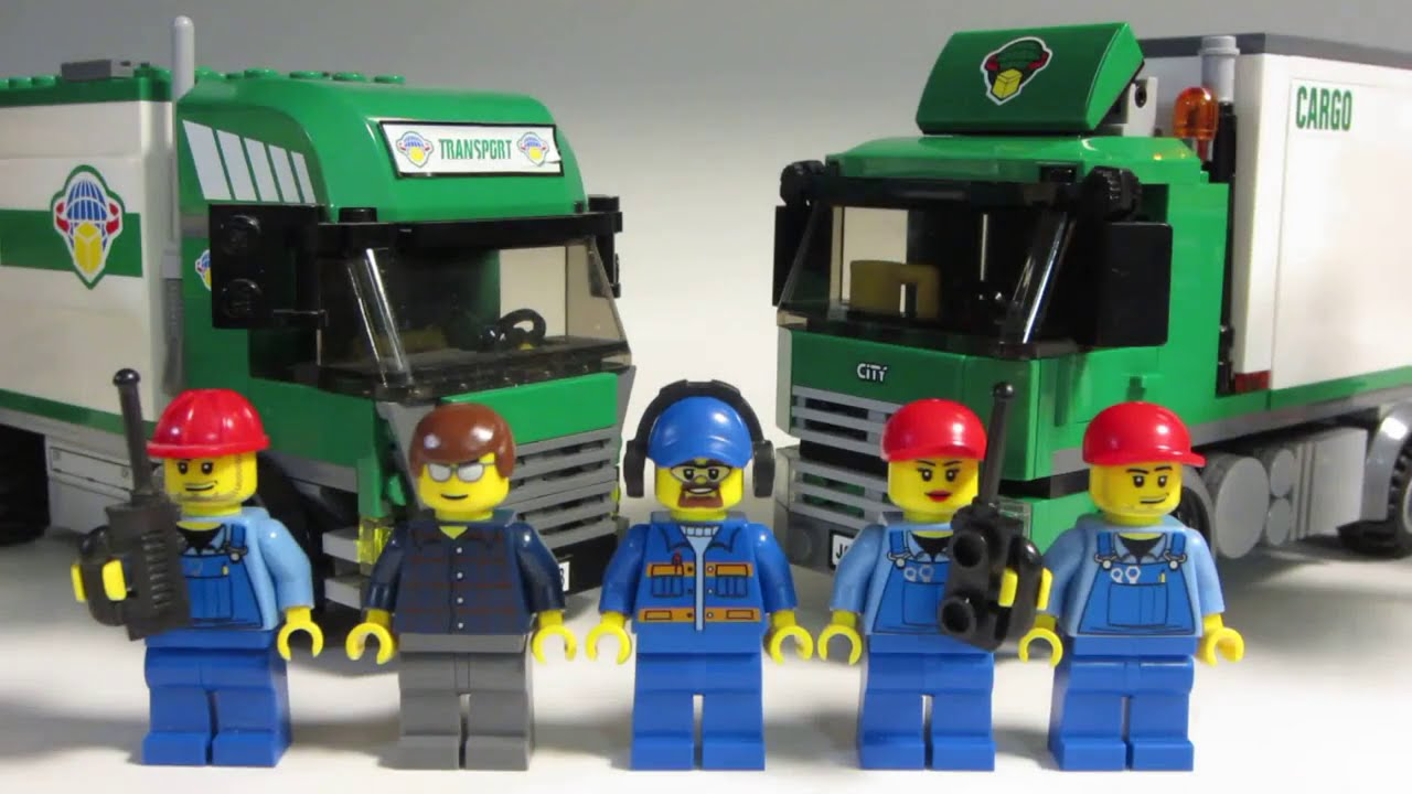 lego city cargo truck comparison review youtube