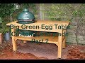 Grilltisch aus Eiche für Big Green Egg / Big Green Egg BBQ Table from Oak – Part 2 - diy