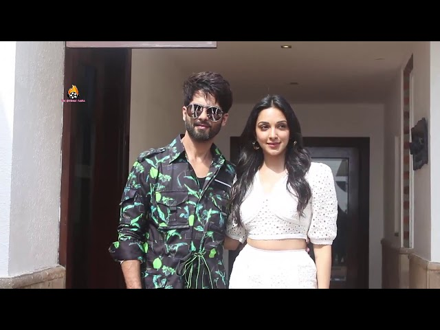 Shahid Kapoor with Kiara Advani promoting their movie Kabir Singh