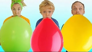Lev and Family playing in balloons. Video for kids