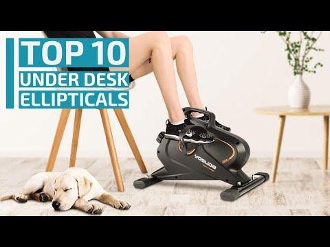 Top 10:Best Under Desk Ellipticals For 2020 / Mini Elliptical Bike Pedal Machine / Exercise, Fitness