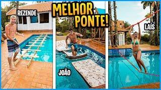 QUEM FAZ A MELHOR PONTE COM ITENS DA CASA NOVA!! ( GANHA 5000 R$ ) [ REZENDE EVIL ]