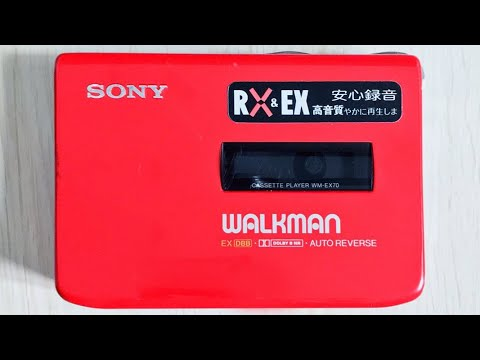 SONY EX70 Walkman Cassette Player, SUPER RARE RED !! Tested & Working !!