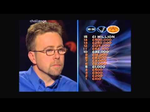 Series 5 Who Wants to be a Millionaire UK 6th November 1999 Dave Ferguson