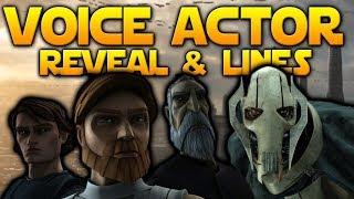 VOICE ACTOR REVEAL + Obi-Wan & General Grievous Lines - Battlefront 2
