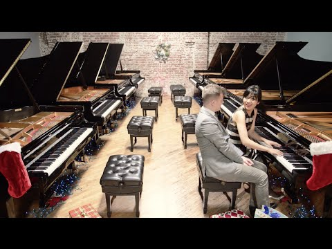 """Sleigh Ride"" — 2 pianists, 8 Steinway concert grands"