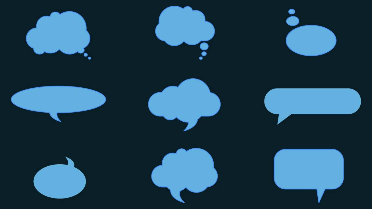 Clean Animated Speech Bubbles