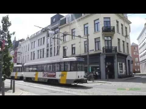 Trams in Antwerp, Belgium - Antwerpse premetro