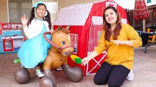Wendy Pretend Play w/ Ride On Horse Toy