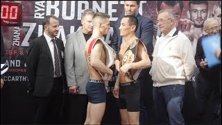 UNIFICATION CLASH! RYAN BURNETT v ZHANAT ZHAKIYANOV - OFFICIAL WEIGH IN & HEAD TO HEAD