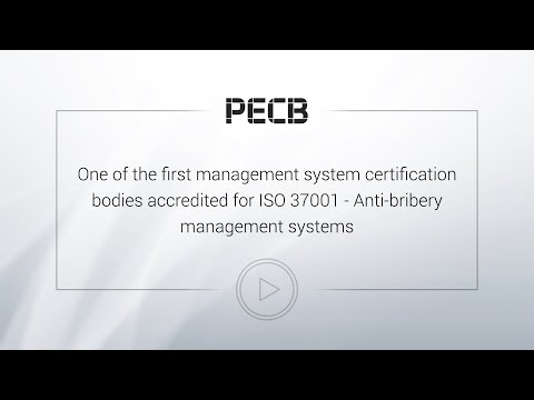 PECB - The first Management System Certification Body in North America Accredited for ISO 37001