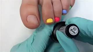 Педикюр, ускоренный видео урок дизайна ногтей