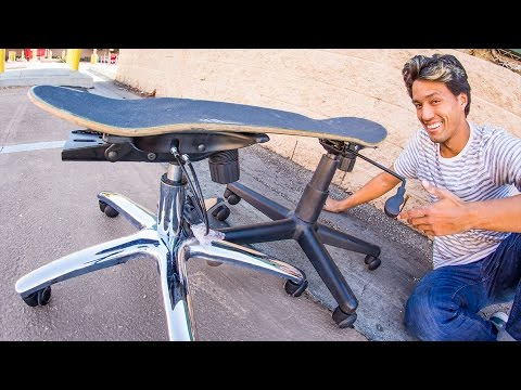 Ultimate Drifting Skateboard Office Chair Legs On