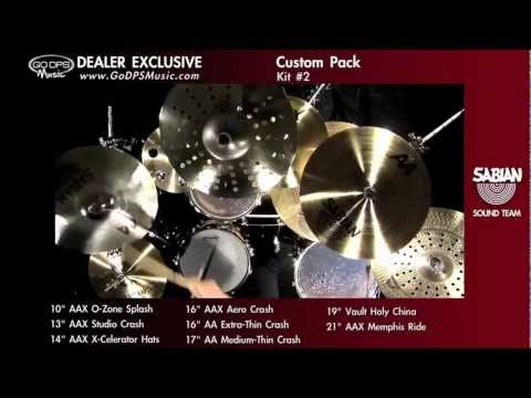 Sabian and GoDpsMusic AAX & AA Pro Genre Super Pack Cymbal Set