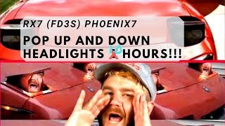 Pop Up and Down Headlights by James Pumphrey ft. RX7 FD3S 10 HOURS!