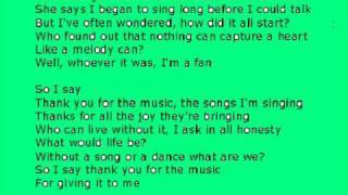 Mamma mia - thank you for the music - karaoke (with lyrics)