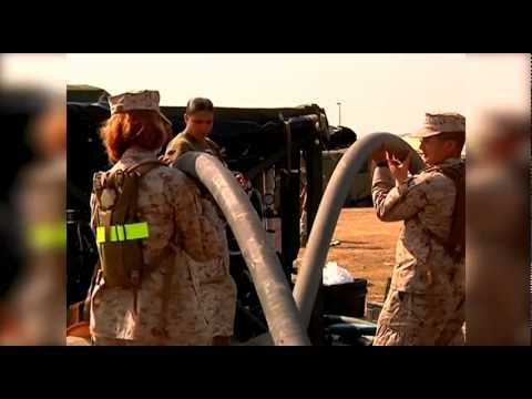 Utilities Marines work side by side to purify water