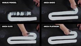 Filmen visar skillnaden på täckförmågan och färgupptagningen hos en...