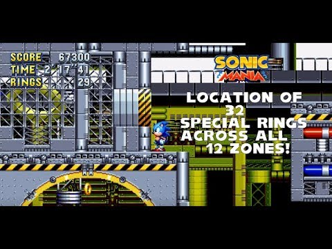 Sonic Mania - Location of 32 Giant Rings across all 12 Zones!