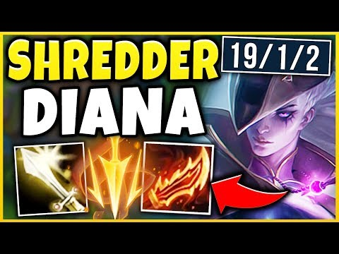 WTF! THIS DIANA BUILD IS LITERALLY RIDICULOUS! TANKS LITERALLY MELT?!? (PENTA) - League of Legends