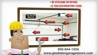 Gladiator Garage Doors And Gates 800-844-1204 - San Fernando Valley, Los Angeles, Ventura County