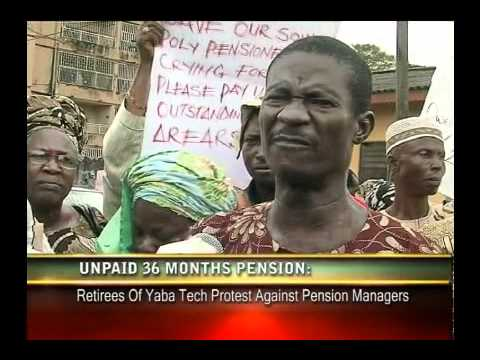 SHARPLENSTV - PENSIONERS OF YABA COLLEGE OF TECHNOLOGY LAGOS PROTEST NON-PAYMENT