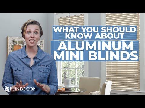 Custom Aluminum Mini Blinds   Window Covering Ideas