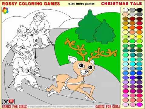 เกมส์ ระบายสีซานตาครอส