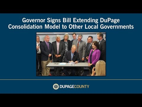 Governor signs bill extending DuPage consolidation model to other local governments