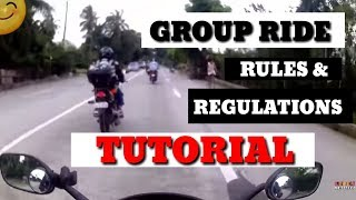 GROUP RIDE TUTORIAL | GROUP RIDE FORMATIONS | GROUP RIDE POSITIONS