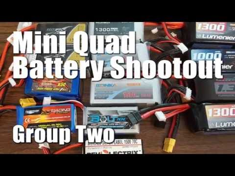 Mini Quad Battery Testing - Group Two - Including 60 Amps Test