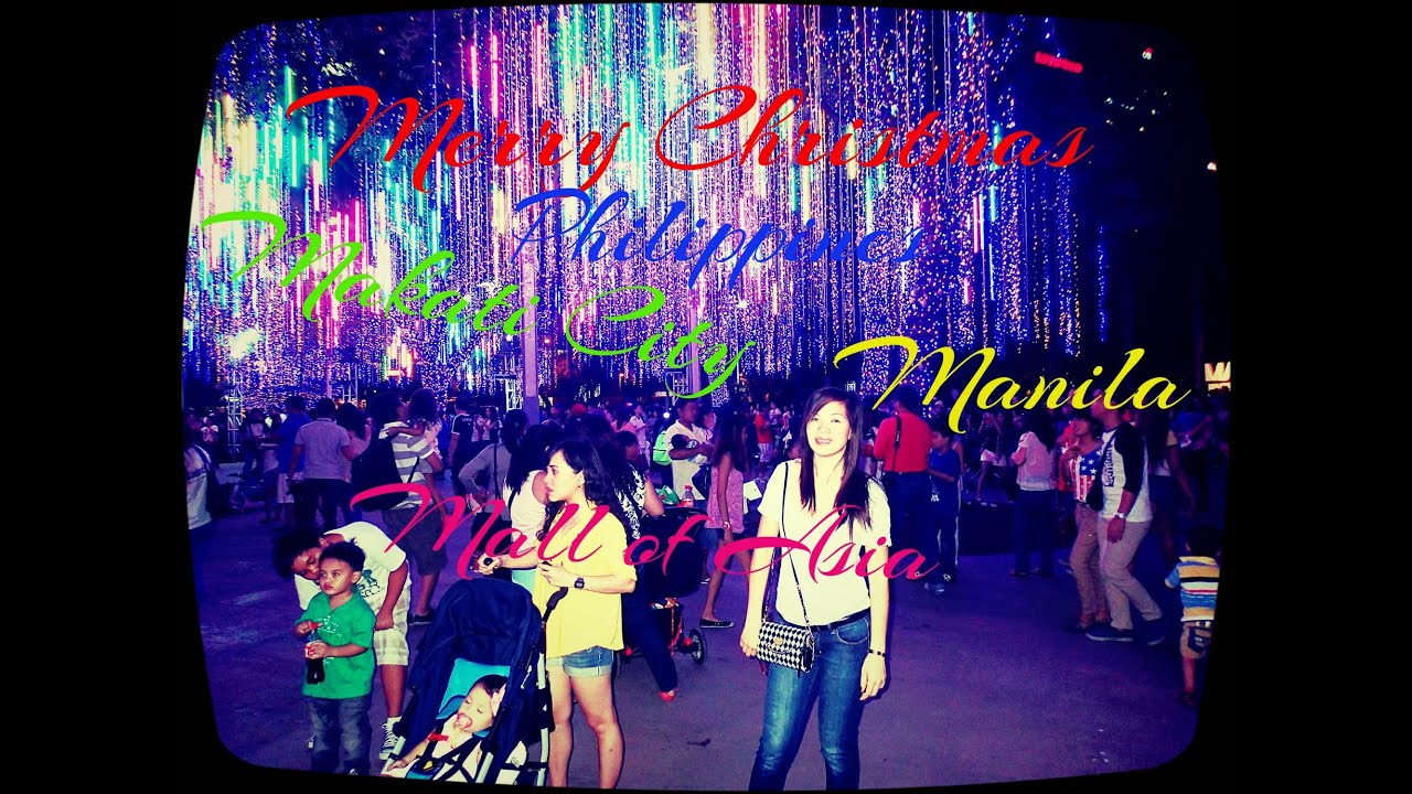 Christmas Lights in Makati City Philippines - YouTube