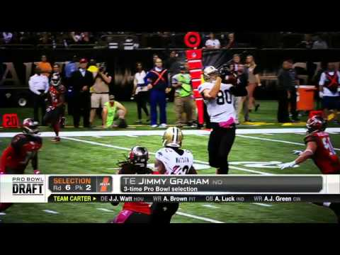 Jimmy Graham selected 10th in 2015 Pro Bowl Draft