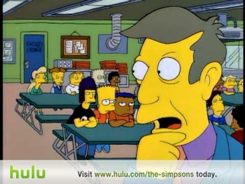 The Simpsons - Jimbo Burger - Principal Skinner kills Jimbo and cooks him in a hamburger. S6:Ep6.