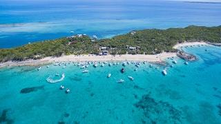 Sandy Toes Beach Olympics - Rose Island Bahamas - Drone Footage