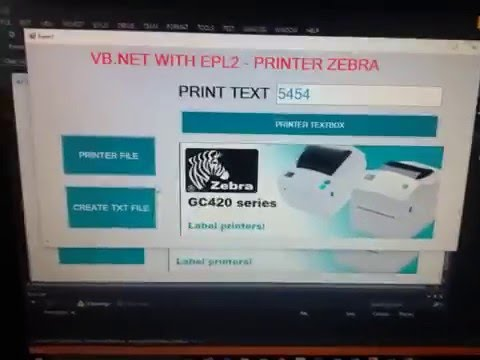 VB NET and EPL - Visual Studio Zebra Printer