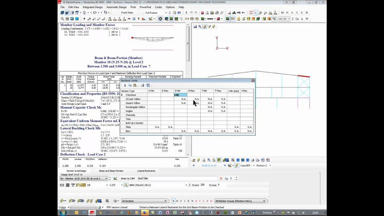 Masterseries - Steel Frame Design - YouTube