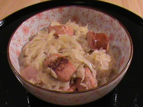 Sauerkraut With Sausage (German Cuisine Inspired) - By Chinese Home Cooking Weeknight Show