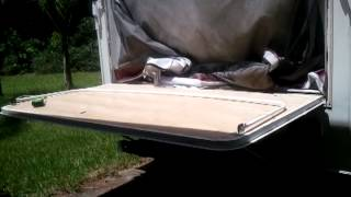 33.  Kodiak Scamper Bunk End Door Repair:  Canopy Support Brackets and Wires