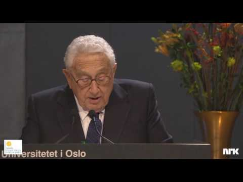 Nobel Peace Prize Forum Oslo 2016 with Dr. Henry Kissinger and Dr. Zbigniew Brzezinski