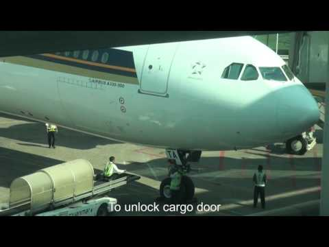 Singapore Airlines , Airbus A330-343, SQ998 Ground Handling in Yangon International Airport,Myanmar
