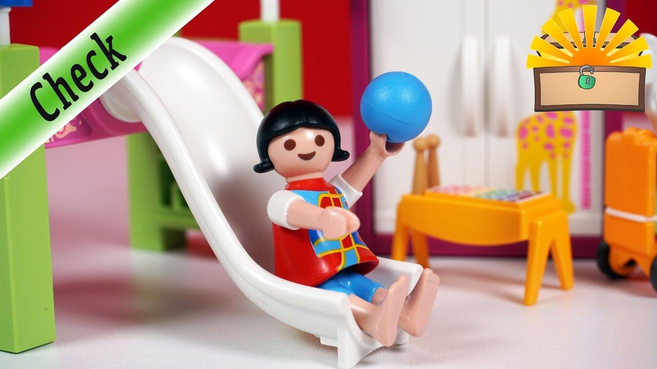 KINDERZIMMER mit HOCHBETT RUTSCHE! Playmobil 5579 Film deutsch Luxusvilla