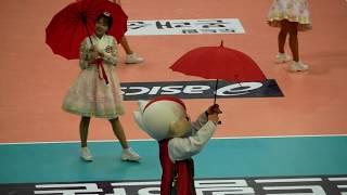 180217 우산 이벤트 빛돌이, 한국전력 vs OK저축은행