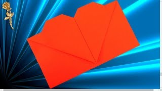 Origami facile : Enveloppe Coeur
