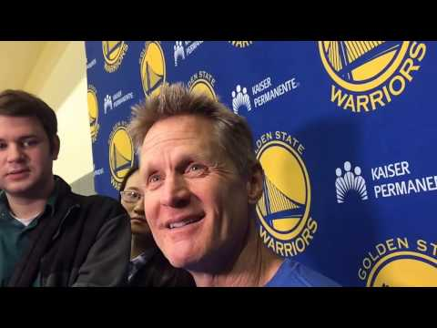 """Steve Kerr On Gregg Popovich: """"I'm Probably More Even-keel…(Pop Says) 'When I Go Serbian, Look Out'"""""""